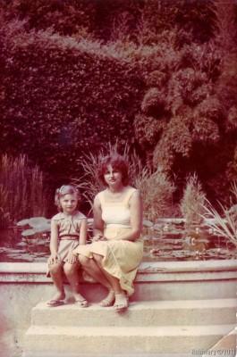 My mom and I, 1986.