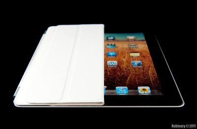 Smart cover on iPad 2.