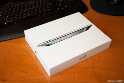 iPad 2 box. Getting ready to open.