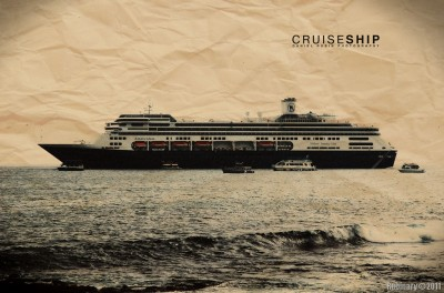 One of the photos of a cruise ship I found in my collection. Taken on Hawaii.