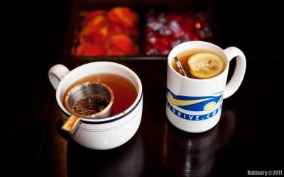Brewing the teas.
