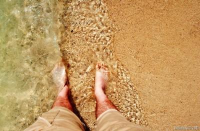Beach. Water. Sand.