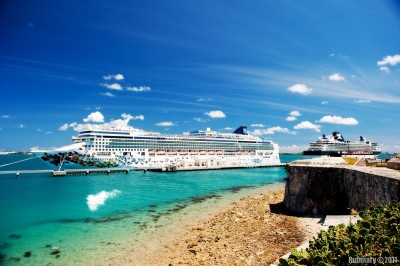 Norwegian Gem at Royal Naval Dockyard in Bermuda.