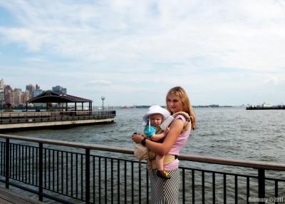 Alena and Arosha in Jersey City.