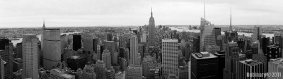 NYC panorama wallpaper for dual monitors.