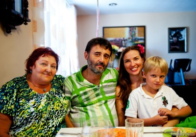 Aunt Lilya, Arsen, Lena and Vitalik.