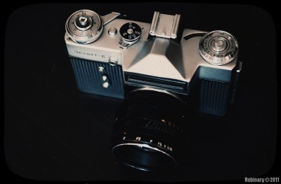 Soviet made Zenit-E SLR camera.