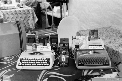 Typewriters at Brooklyn Flea.
