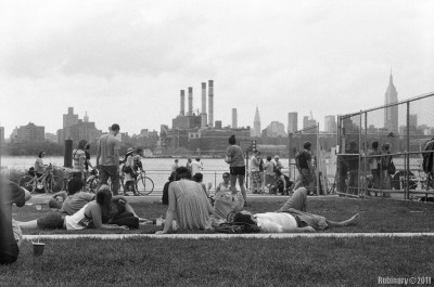 Williamsburg shore line. Brooklyn Flea.