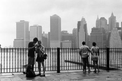 Brooklyn Heights. Promenade over looking Manhattan.