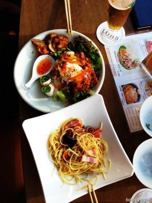 First lunch. Shibuya, Tokyo.