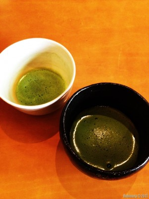 Tea ceremony green tea.