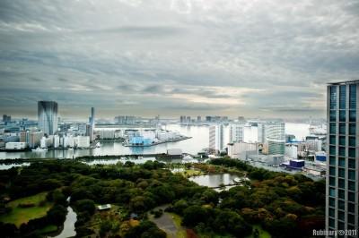 Tokyo Bay view from Conrad Tokyo.