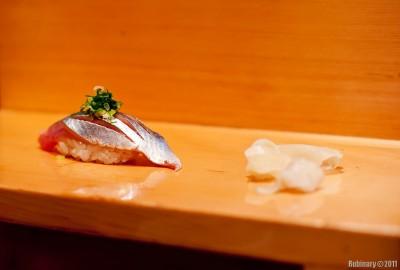Sardine sushi.
