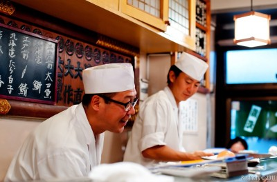 Chefs at Sushi Dai.