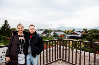 Us at Nijo Castle.