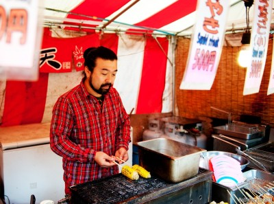 Street vendor on Miyajima Island.