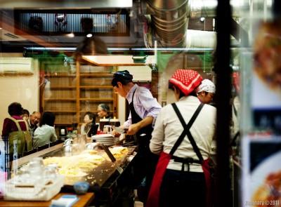 Okonomiyaki chef.