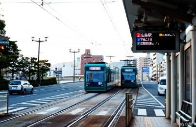 Hiroshima trams.