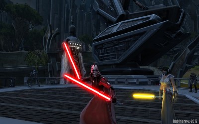 Sith Marauder Zhah and his companion Jaesa.