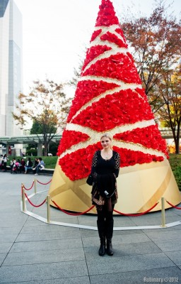 Christmas tree in front of Roppongi Hills Tower.