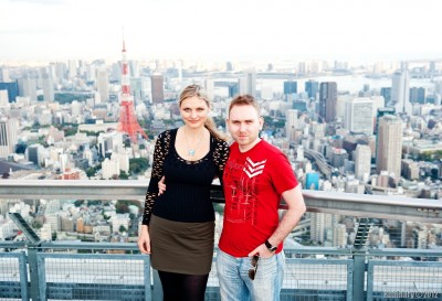 Us atop Rappongi Hills Tower.