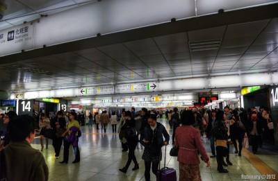 Shinjuku Station.