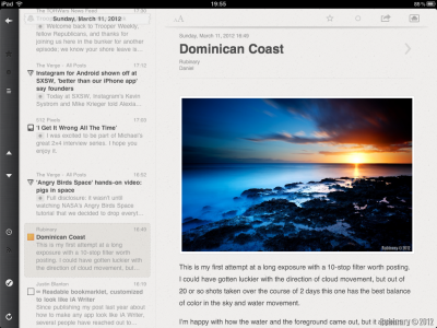 Reeder for iPad.