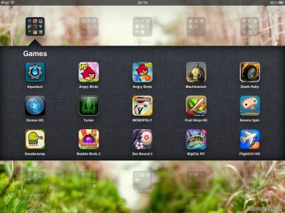 Some of my iPad games.