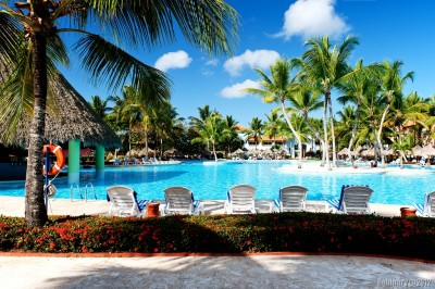 Pools at Iberostar Hacienda Dominicus.