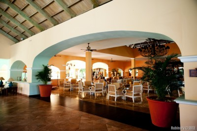 Resort lobby.