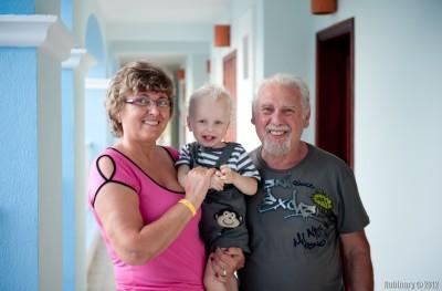 Papa, mama and Arosha.