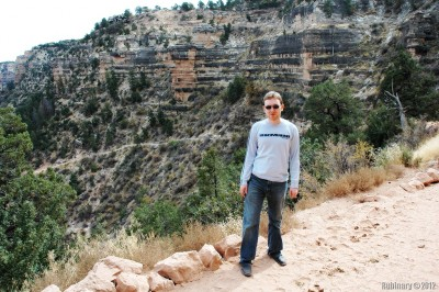 Silly young self trying to hike down the Grand Canyon in dress shoes.