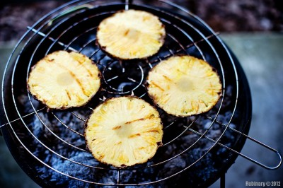 Grilled pineapples.