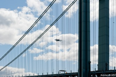 Flying over Verrazano Bridge.