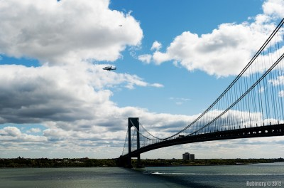 View of Enterprise from Fort Wadsworth.