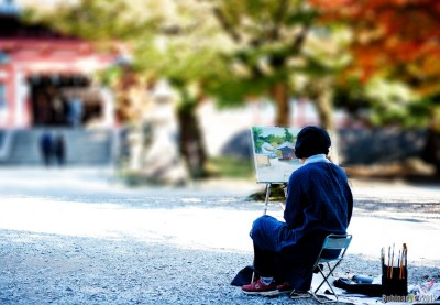 Painter at Nara Park.