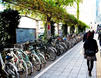 Bicycles in Osaka.