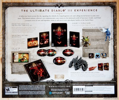 Contents of Collector's Edition box and in-game items.