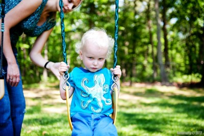 Swinging is serious business.