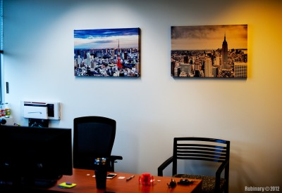 Canvas prints in my office.