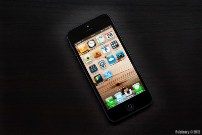 Black Apple iPhone 5.