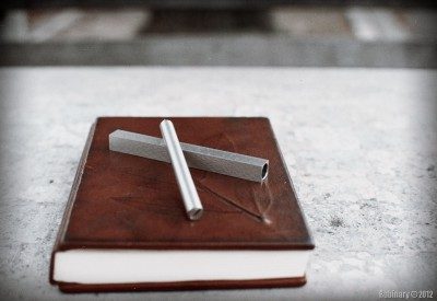 Leather notebook and Pen Type-A.