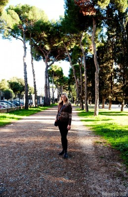 In a park near Borghese Gallery.