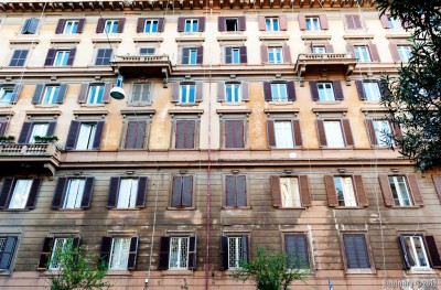 One of typical buildings in Rome.