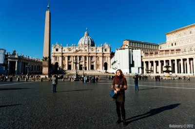 Alena on Saint Peter's Square.