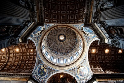 Saint Peter's cupola from inside.