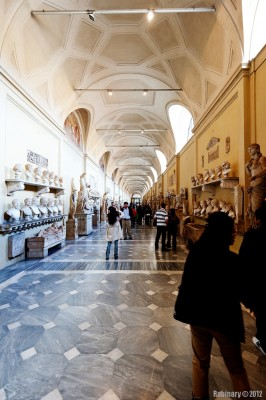 Hall full of sculptures.
