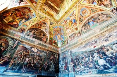 Raphael's frescoes.