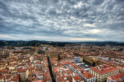 Florence. View from the top of Giotto's Campanile.